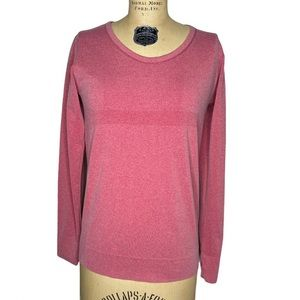 Zyia Active Heathered Red Long Sleeve Top